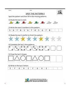 complete the pattern worksheet for grade 4 530 free kindergarten worksheets spot the patterns kindergarten math worksheets kindergarten