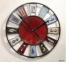 horloge murale ancienne rustique bleu diam 232 tre 75 cm