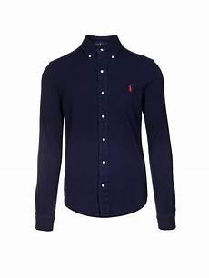 polo ralph hemd blau s