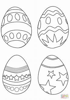 simple easter eggs coloring page free printable coloring