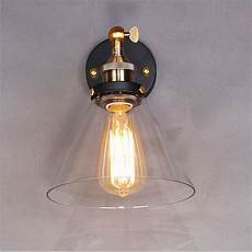 vintage industrial modern contemporary glass sconce funnel wall lights wall l ebay