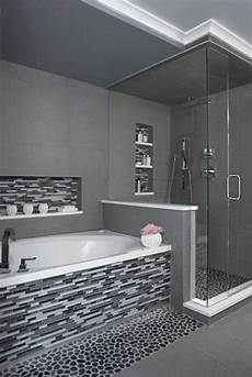 Black And White Mosaic Tile Bathroom