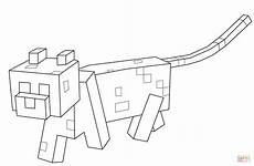 Ausmalbilder Minecraft Katze Minecraft Ocelot Coloring Page Free Printable Coloring Pages