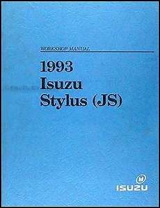 old car manuals online 1993 isuzu stylus user handbook 1993 isuzu stylus repair shop manual original
