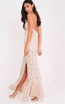 Premium Showstopper Embellished Maxi sequin fishtail maxi dress prettylittlething usa