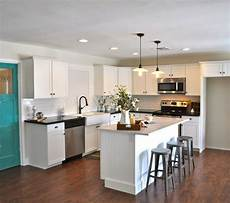an quot l quot shaped kitchen island kitchen before and rafter kitchen floor plans best kitchen