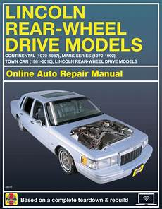 old car manuals online 2009 lincoln town car on board diagnostic system 2009 lincoln town car haynes online repair manual select access ebay