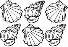 Muschel Ausmalbilder Malvorlagen Ausmalbilder Muscheln Ausdrucken Malvor