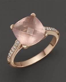 best rose quartz diamond ring images pinterest