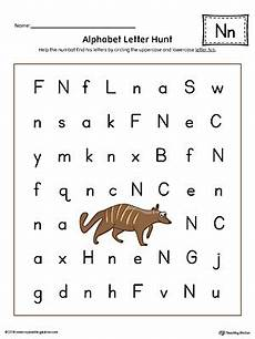 learning the letter n worksheets 24151 finding and connecting letters letter n worksheet color myteachingstation