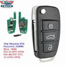 for audi a4 s4 2006 2010 upgraded remote key fob 315mhz id48 p n 8e0 837 220l ebay upgraded flip remote key 315mhz id48 for audi a4 s4 2006