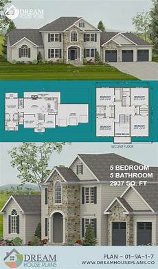 5 bedroom house plans with wrap around porch dream house plans best traditional 5 bedroom 2937 sq ft