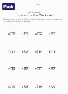 single digit division worksheet 6 multiplication division worksheets math worksheets kids