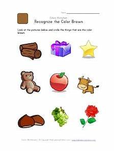 recognize the color brown worksheet for pre k