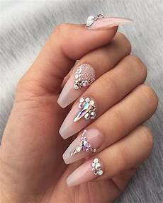 elegant simple rhinestone nail designs