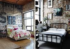 Backstein Tapete Schlafzimmer - soft industrial chic with brick effect wallpaper lobster