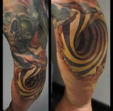 coole tattoos 3d ellenbogen realistisch