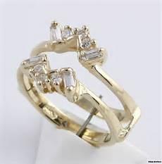 cubic zirconia wedding band jacket enhancer 14k yellow gold cz baguette