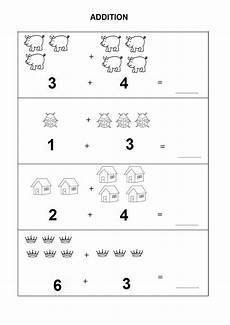 free easy addition worksheets with pictures 9631 introductory kindergarten math worksheets pdf kindergarten math worksheets kindergarten