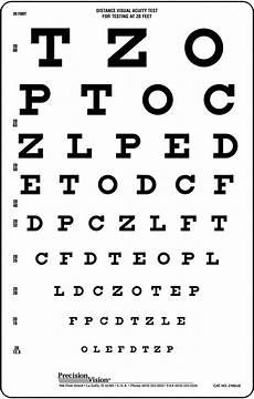 Snellen Eye Examination Chart Snellen Translucent Distance Vision Testing Chart