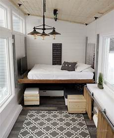 Tiny House Bedroom Storage Ideas by A Tiny House With A Unique Clever Bedroom Solution