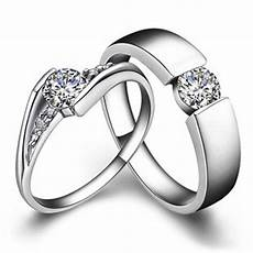 solid gold his and her rings 0 5ct female engagement ring