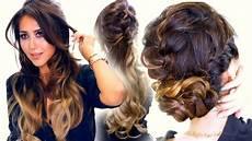 2 summer braid hairstyles cute half updo bun hairstyle youtube