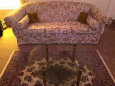 vintage 60s tapestry style sofa glass coffee table living room furniture ebay