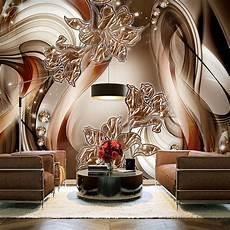 Vlies Fototapete Blumen Lilien Abstrakt Braun 3d Effekt