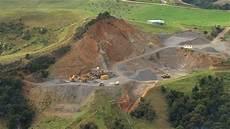 cava di ghiaia estrazione di materia prima industria nuova zelanda