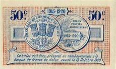 chambre de commerce melun billets de n 233 cessit 233 1914 1918 melun seine et marne