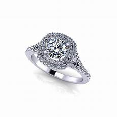 split double halo engagement ring jewelry designs