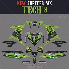 jual sticker striping motor stiker yamaha new jupiter mx full green monster spec a di lapak