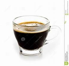 verre coffee coffee espresso in glass cup with foam white background