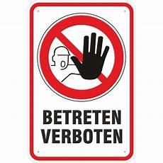 schild hinweisschild betreten verboten mit symbol 3 mm
