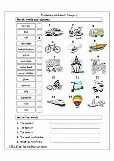 means of transport science worksheets and vocabulary vocabulary matching worksheet transport means of transport pinterest worksheets english