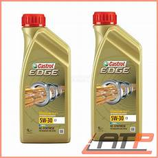 2x 1 l litre castrol edge titanium fst 5w 30 c3 engine