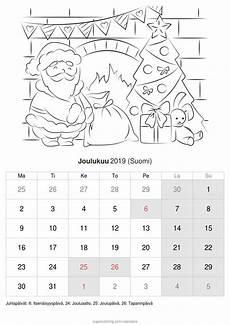 kalenteri joulukuu 2019 suomi