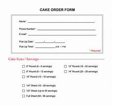 cake order receipt template sle cake order form template 16 free documents