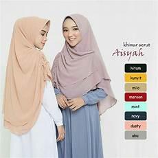 Jilbab Instan Khimar Aisyah Serut Sifon Ceruti Www