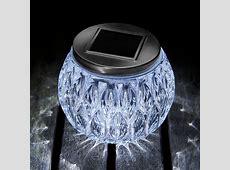 Auraglow Glass Garden Solar Table Light   Auraglow LED