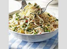 creamy crab and pea pasta_image