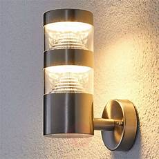 stainless steel led outdoor wall light lanea lights co uk