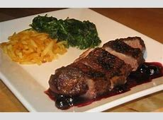 duck magret with a blueberry port sauce_image