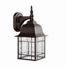 portfolio 15 62 in h rubbed bronze dark sky led outdoor wall light energy star at