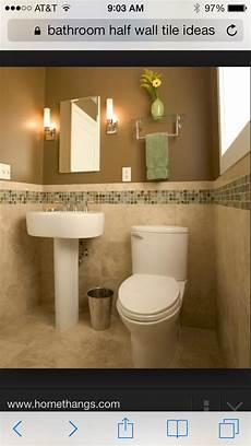 Bathroom Ideas Half Tiled Walls by Bathroom Half Wall Tile Ideas For The Home