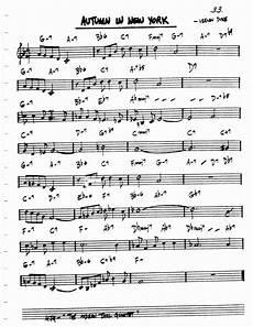 autumn in new york search guitar sheet music music trumpet music