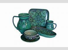 turquoise spanish dinnerware   La Cocina   Green