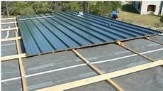 pose bac acier toit plat pose bac acier en 2019 garage toit plat toit plat et