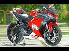 Warna Motor Keren by Modifikasi Motor Kawasaki 250 Warna Merah